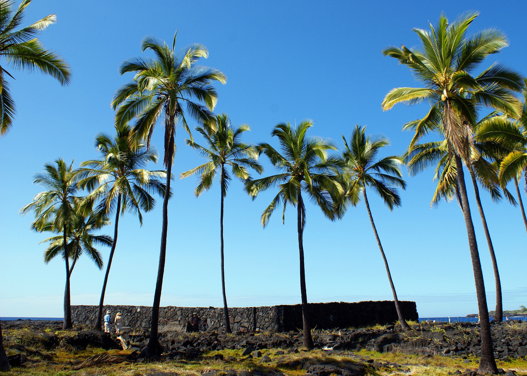 "Credit: ""Pu'uhonua o Honaunau National Historical Park"" by Makuahine Pa'i Ki'i on Flickr"