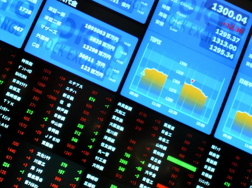 Ticker_board_of_Tokyo_stock_exchange